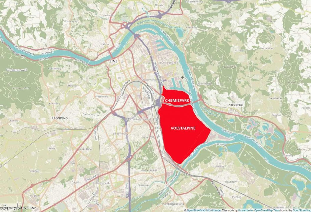 Stadt Linz - Industriegebiet inmitten der Stadt
