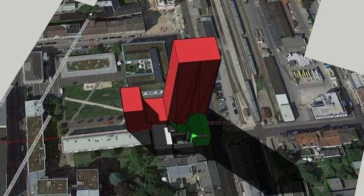 Linz, Hochhausprojekt Weinturm, Urfahr, Kaarstrasse 11; Quelle: Still, YouTube OQhQFt4sNiQ