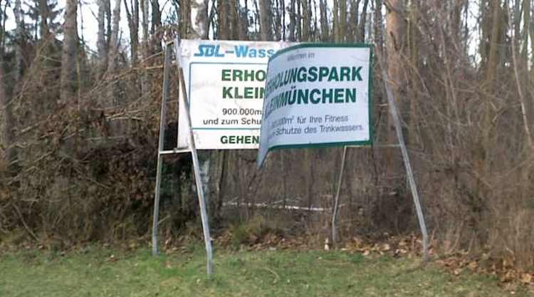 Linz, Erholgunsgebiet Wasserwald verwahrlost