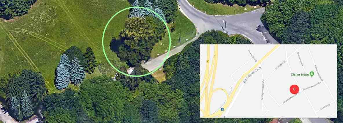 Linz, Erholgunsgebiet Wasserwald verwahrlost; Quelle: google.com